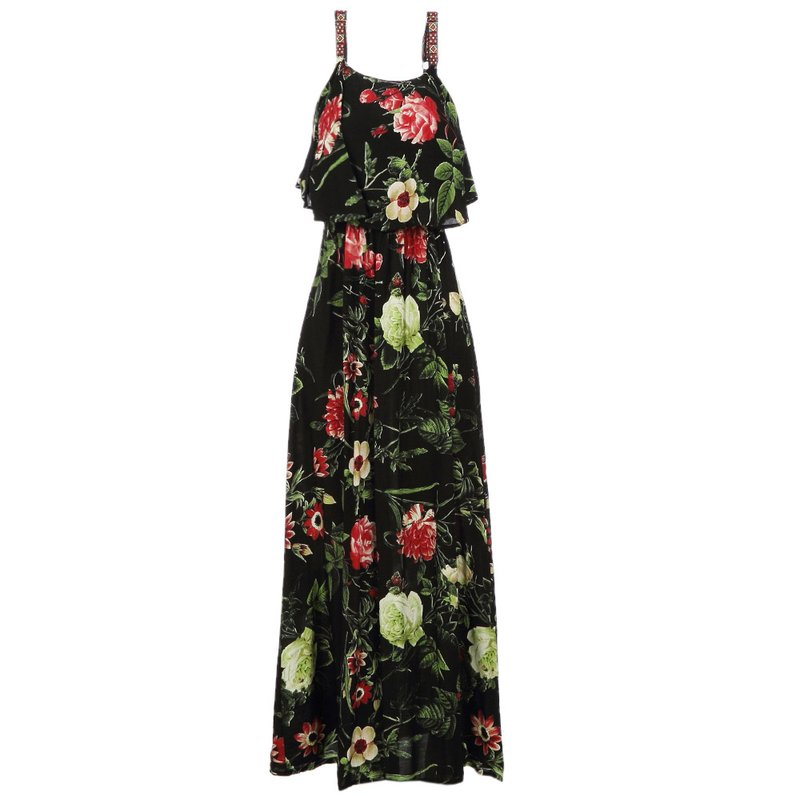 f71f1eb819 Vestido Acinturado Estampa Floral com Alça