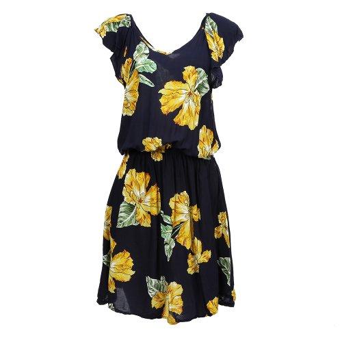 Vestido Com Babado Na Manga Estampa Primavera - Compre Agora - Feira ... 3e17f826980