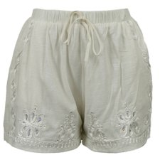 Short Com Bordado E Lantejoula