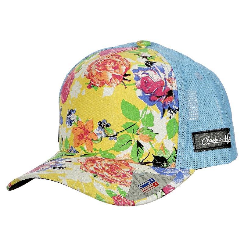 Boné Feminino Com Estampa Floral - Compre Agora - Feira da Madrugada SP a21791e49ff
