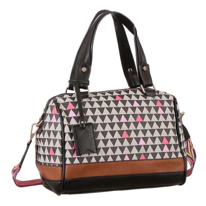 faad9dc91 Bolsa De Ombro Bag Mosaico + Pingente - Compre Agora - Feira da Madrugada SP