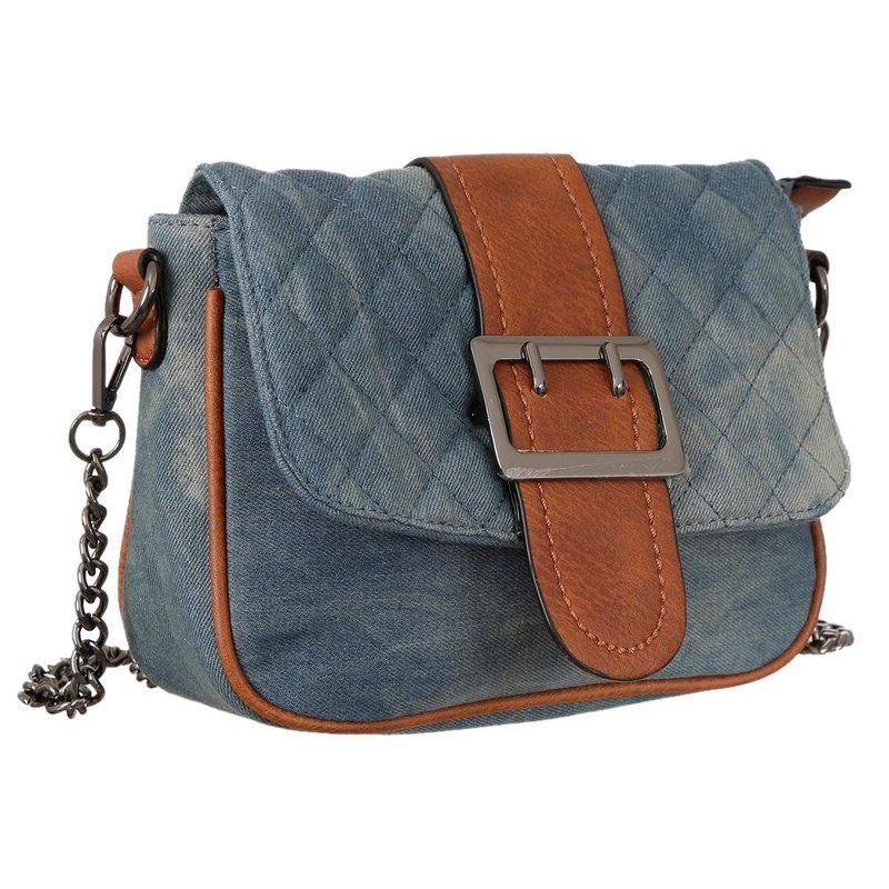 95b514d6e Bolsa De Mão Transversal Jeans Alça Corrente - Compre Agora - Feira da  Madrugada SP