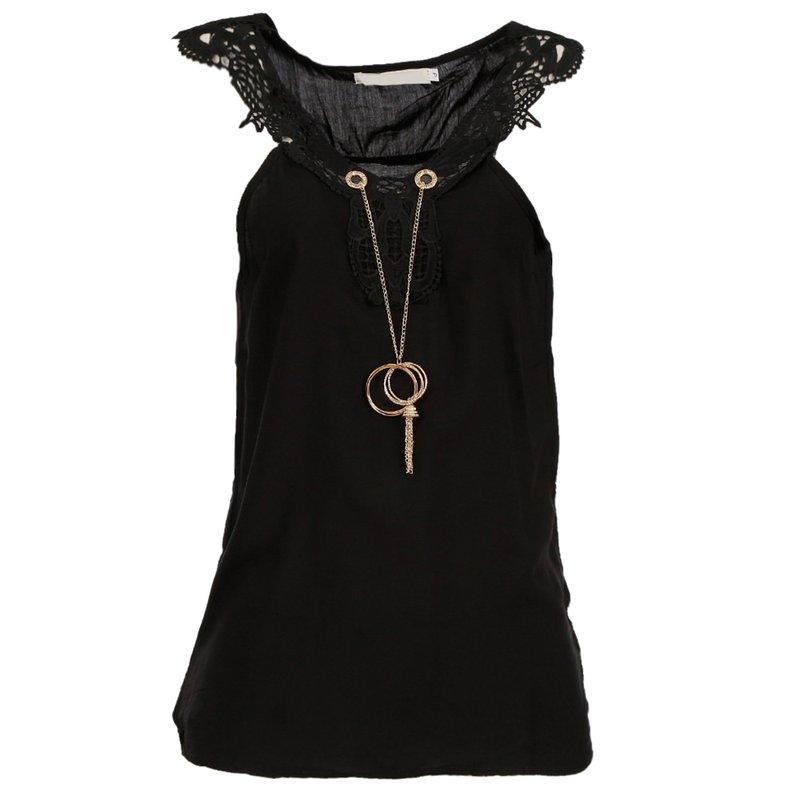 3921dc6bbc Blusa Regata Com Guipir + Pingente - Compre Agora - Feira da Madrugada SP