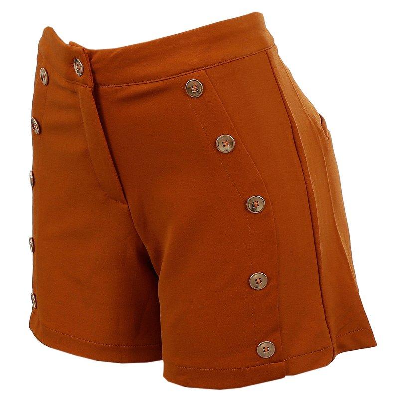 b1a1808a6 Short Cintura Meia Alta Detalhes Botões Dourados - Compre Agora - Feira da Madrugada  SP