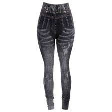 Calça Legging Fake Jeans Sublimada Lisa