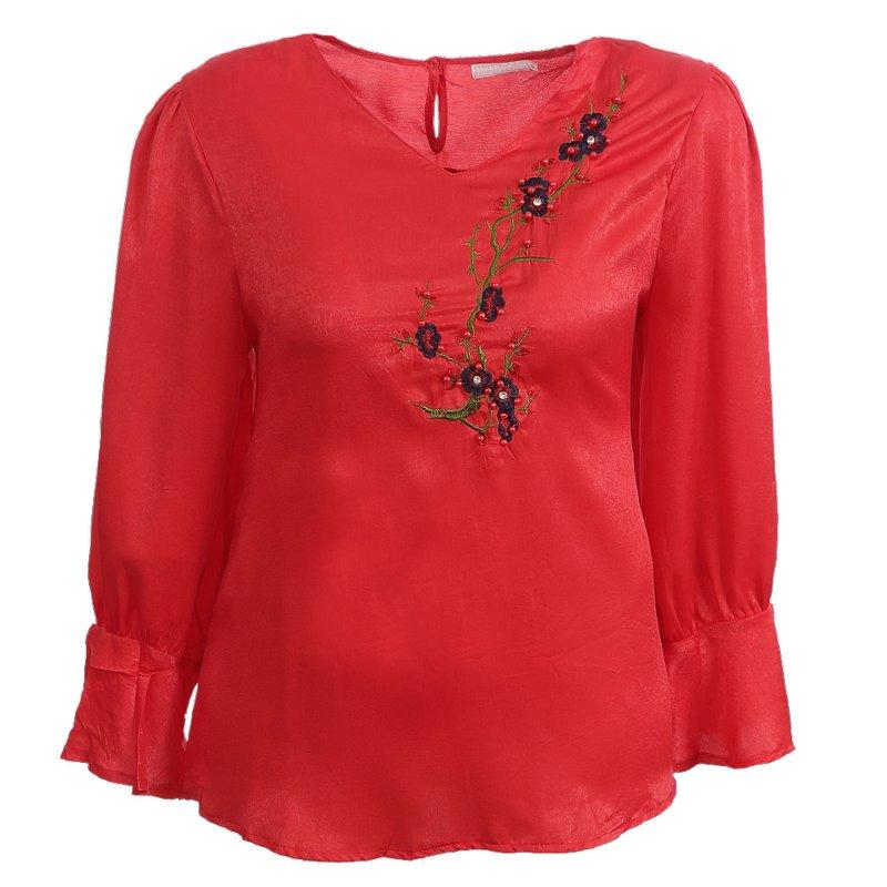 7b60eb15c2 Blusa Plus Size De Veludo Com Patch Bordado - Compre Agora - Feira da  Madrugada SP
