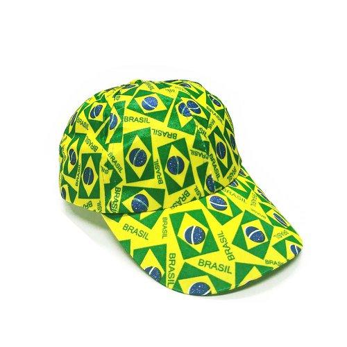 Boné De Cetim Verde E Amarelo - Compre Agora - Feira da Madrugada SP 97bfce05a9b