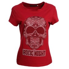 Camiseta Rock Night  Estampada Em Strass