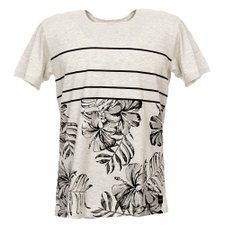 Camiseta Masculina Com Estampa Tropical