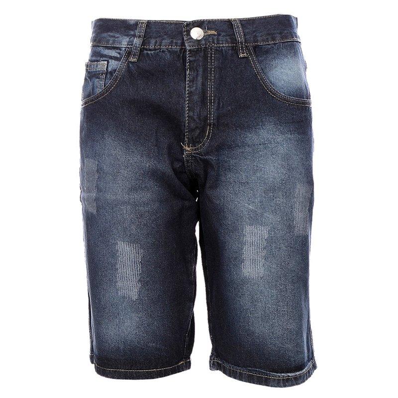 fee98451a Bermuda Masculina Jeans Com Detalhes Desfiados - Compre Agora - Feira da  Madrugada SP