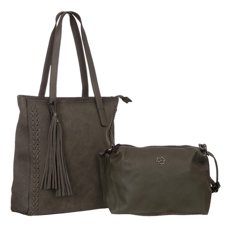 16bf44a92 Kit 2 Bolsas Feminina De Ombro + Transversal Detalhes Trançados E Tassel - Compre  Agora - Feira da Madrugada SP