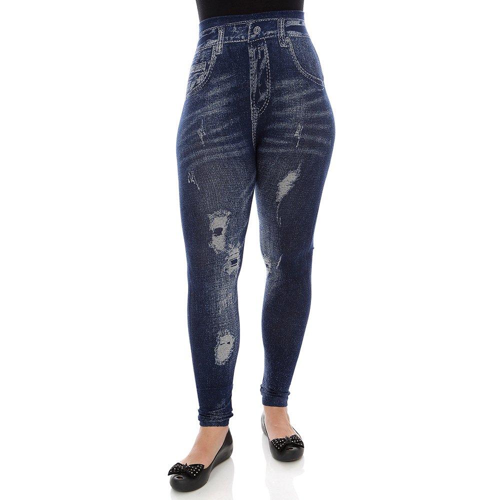 99dbae723 Calça Feminina Jeans Lisa - Compre Agora - Feira da Madrugada SP