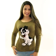 Suéter Com Estampa Animal Feminino