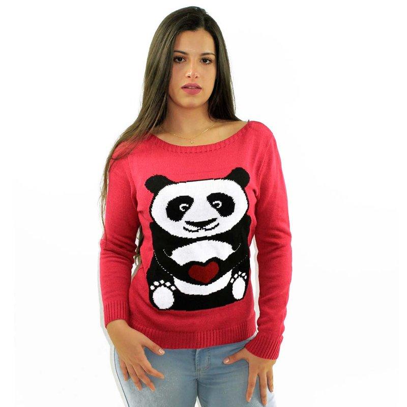 6f62fcd06 Suéter Feminino Manga Longa Rosa Estampado - Compre Agora - Feira da ...