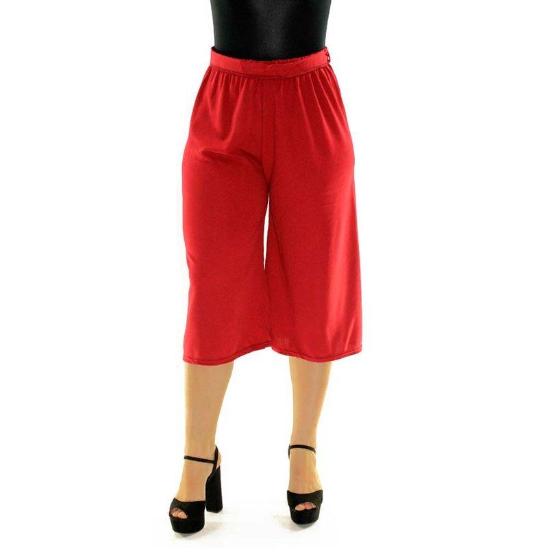 f31881ddc1 Calça Vermelha Pantacourt Lisa Com Cordão De Amarração - Compre Agora -  Feira da Madrugada SP