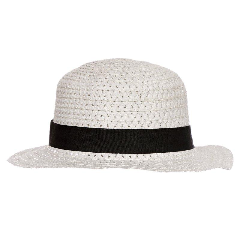 Chápeu Branco De Praia Aba Pequena Com Faixa - Compre Agora - Feira da Madrugada  SP 564547999d4