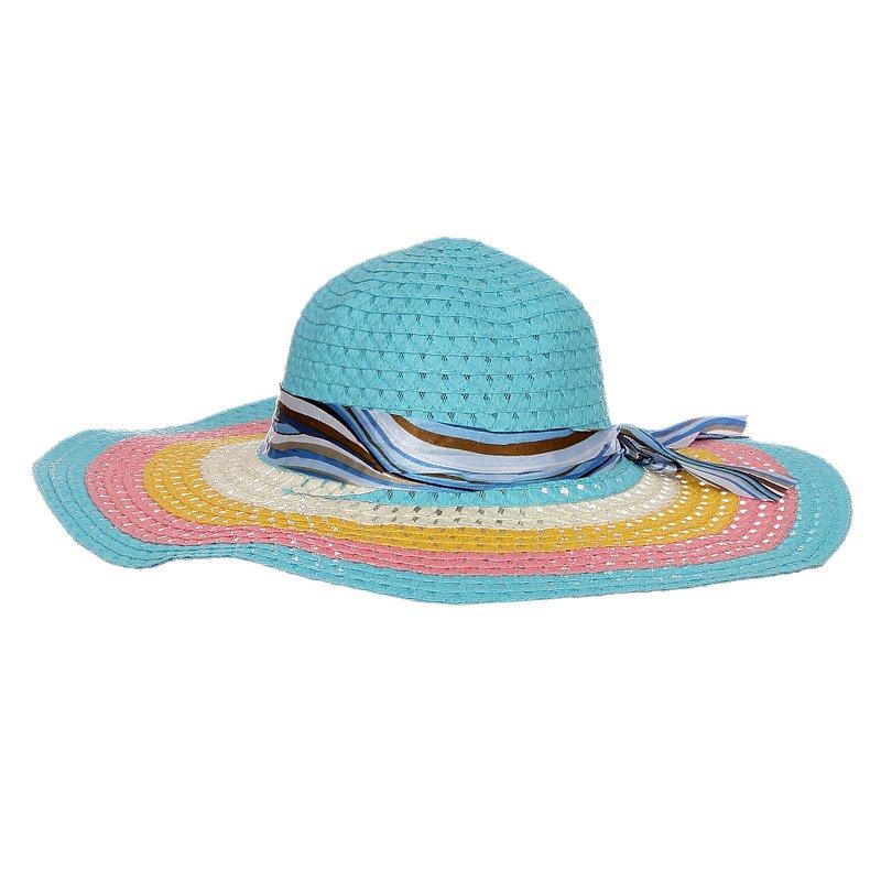 Chápeu Feminino De Praia Aba Grande Colorida - Compre Agora - Feira ... 33163739b52