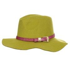 Chápeu Floppy Verde Com Faixa Decorativa Metálica b9f91a50576