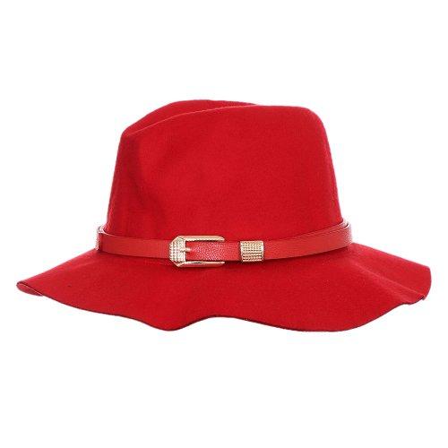 Chápeu Floppy Vermelho Com Faixa Decorativa Metálica - Compre Agora ... d3fa8de3ce5