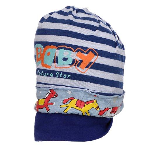 Touca Infantil Azul Listrada E Estampada - Compre Agora - Feira da ... 59a4228076c