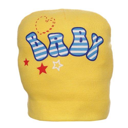 Touca Amarela Para Bebê Estampada - Compre Agora - Feira da Madrugada SP 6f4d3383067