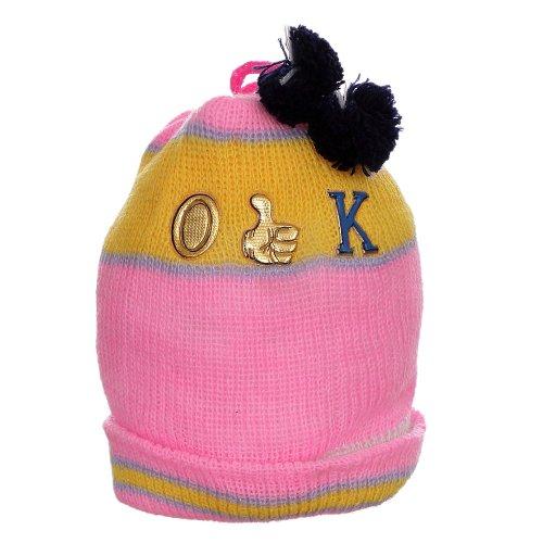 Touca De Lã Rosa Para Bebê Colorida Com Pompom - Compre Agora ... 699e8fe79e1
