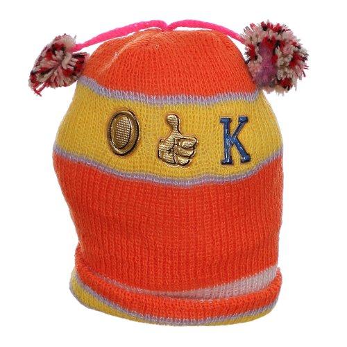 Touca De Lã Laranja Para Bebê Colorida Com Pompom - Compre Agora ... fc840359215