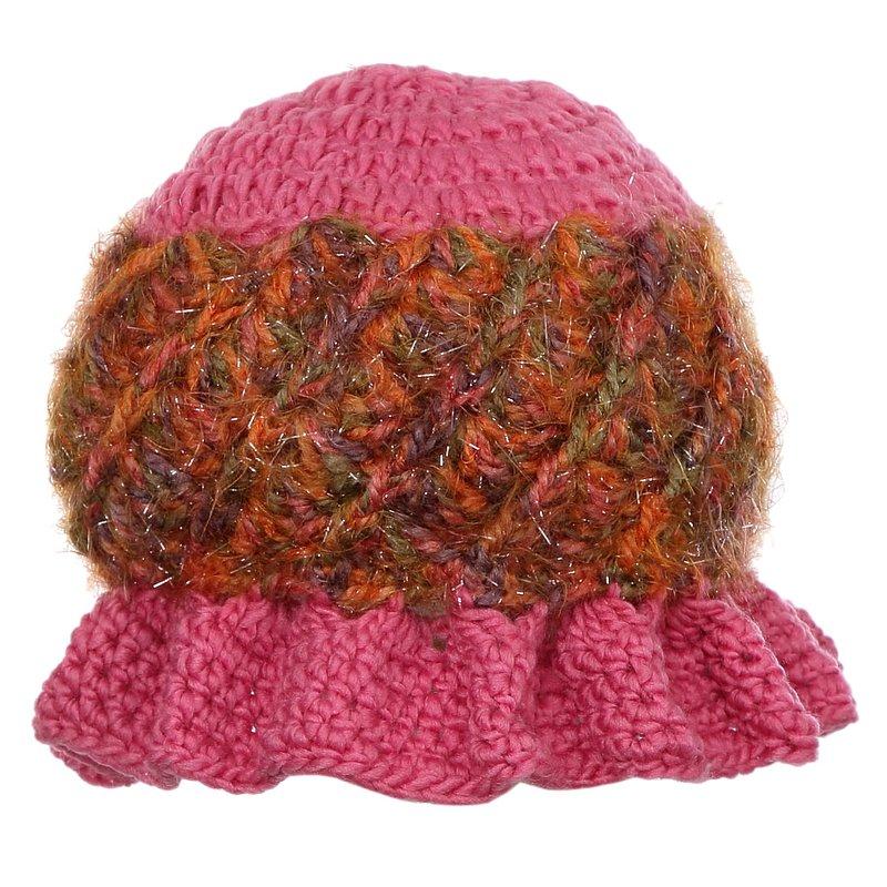 Gorro Rosa Feminino De Crochê - Compre Agora - Feira da Madrugada SP 8161ce3207b