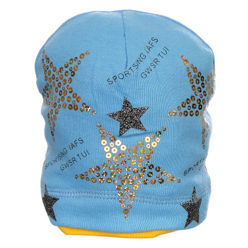 Touca Azul Claro Infantil Star Bordada - Compre Agora - Feira da ... 78137b5682b