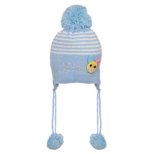 Gorro Azul Infantil Listrado Com Ursinho E Strass - Compre Agora ... 60bb193e839