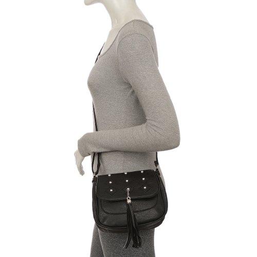 368022c1c Bolsa Transversal Feminina Detalhes Vazados Com Tassel - Compre ...