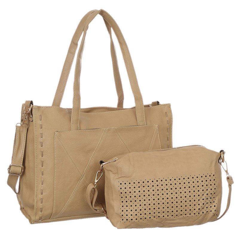649098c4d Kit 2 Bolsas Feminina De Ombro + Transversal Com Vazados - Compre Agora -  Feira da Madrugada SP