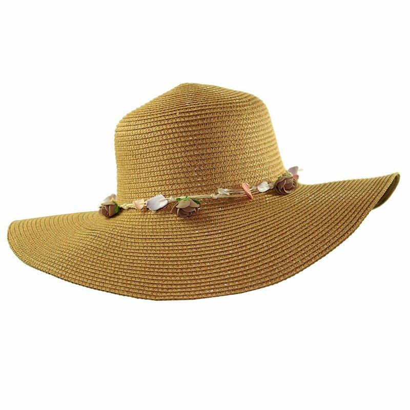 Chapéu De Praia Floppy Com Fita Decorativa Com Flores - Compre Agora -  Feira da Madrugada SP c56cb16d8b4
