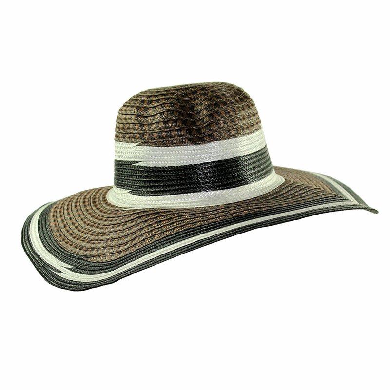 Chapéu Feminino Praia Aba Listrada - Compre Agora - Feira da Madrugada SP 3e7bc79c181