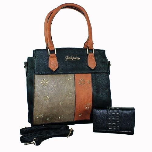 1125d9966 Kit Bolsa De Ombro + Carteira Com Tachas - Compre Agora - Feira da ...