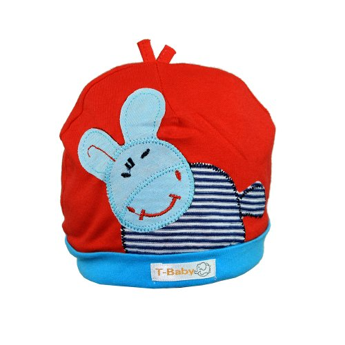 Touca Infantil Vermelha E Azul Com Bichinho - Compre Agora - Feira ... 5d897b4f099