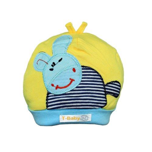Touca Infantil Amarela E Azul Com Bichinho - Compre Agora - Feira da ... 4b2edaa763f