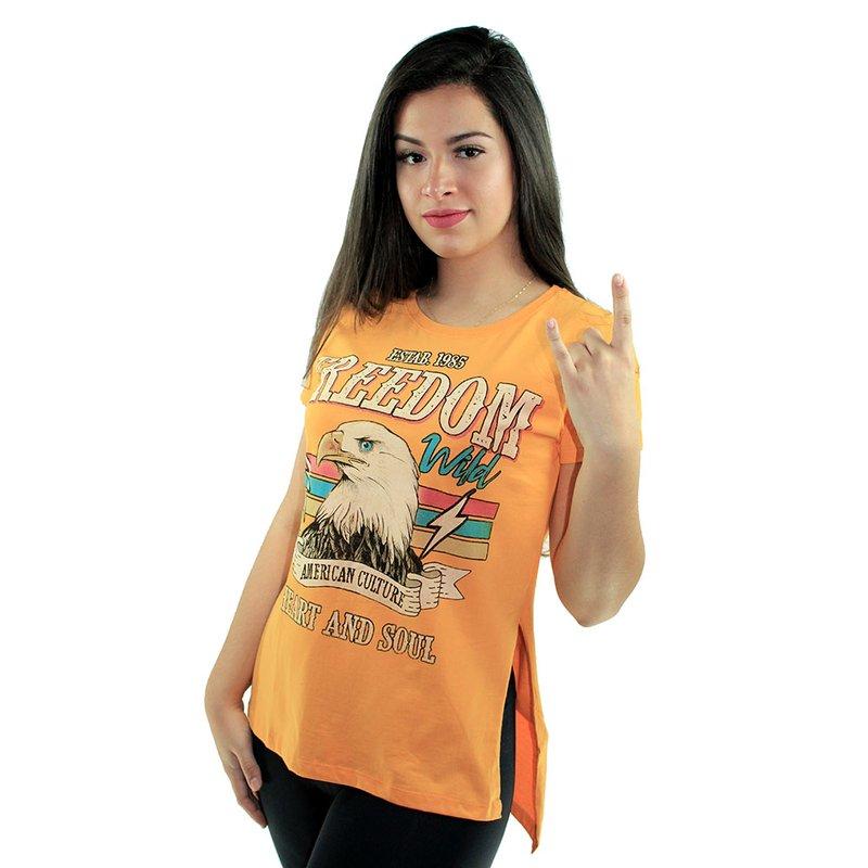 d67b7a8b5 Camiseta T-Shirt Feminina Manga Curta Estampada - Compre Agora - Feira da  Madrugada SP