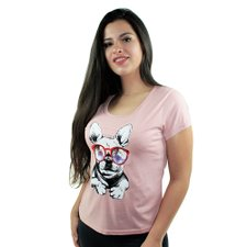 Camiseta Baby Look Feminina Dog