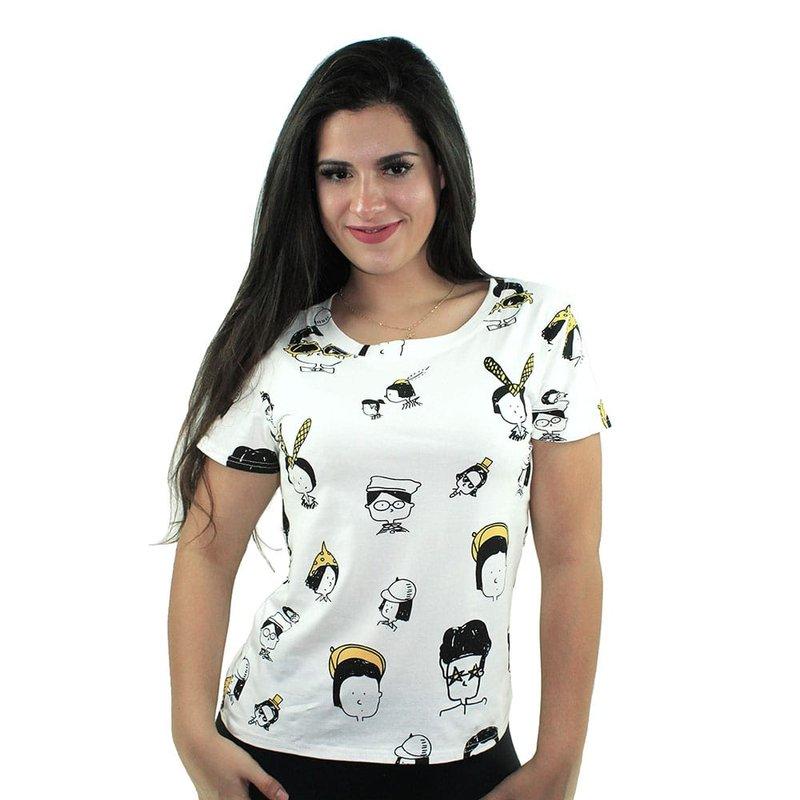 Blusa Camiseta Feminina Manga Curta Estampa De Desenho Compre