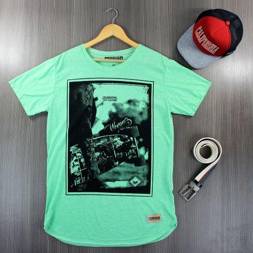Camiseta T-Shirt Masculina Verde Claro Com Manga Curta - Compre ... 87a0f07edb4