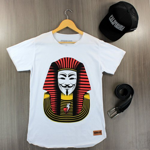 e62927e189 Camiseta Masculina Branca T-Shirt Manga Curta Estampa Frontal ...