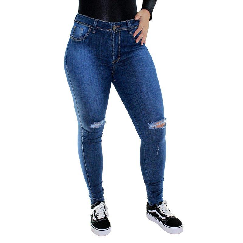 14270d929a Calça Jeans Feminina Destroyed - Compre Agora - Feira da Madrugada SP