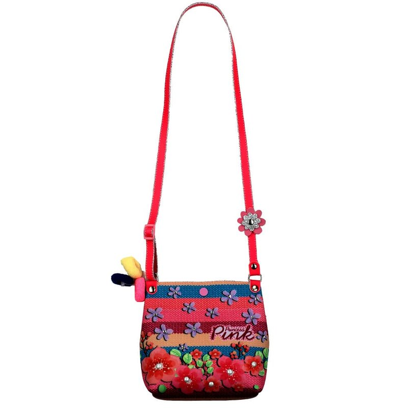 33ec9f94a Kit Bolsa Transversal Floral + 3 Chuquinhas De Cabelo Infantil - Compre  Agora - Feira da Madrugada SP