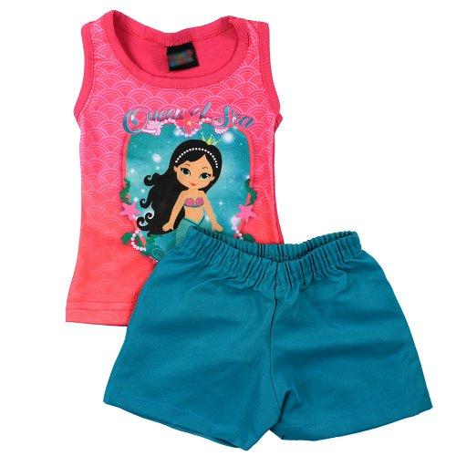 7ce08b6d3ecd6 Conjunto Infantil Rosa Regata Estampa Praia + Short - Compre Agora ...
