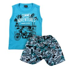 Conjunto Infantil Regata Tropical + Short Estampado Masculino