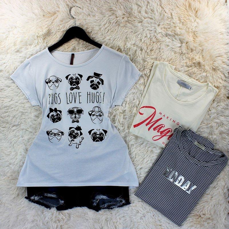 519100fb26 Kit 3 Camiseta E T-Shirt Feminina Tamanho Único - Compre Agora - Feira da  Madrugada SP