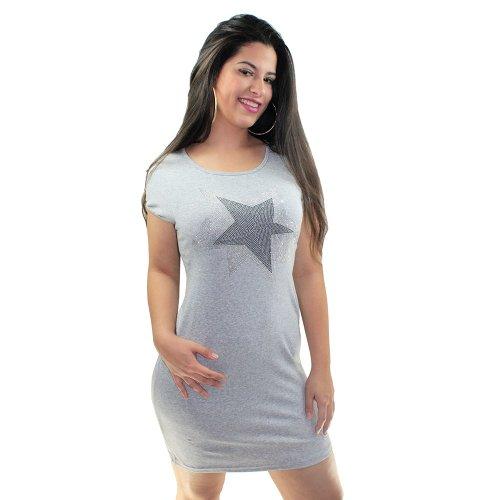 1774c2b6614 Vestido Curto Star Em Spikes Manga Curta - Compre Agora - Feira da Madrugada  SP