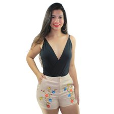 Short Feminino Com Patches