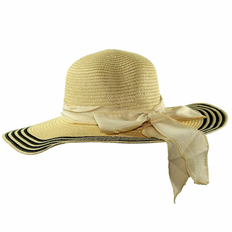 Chapéu Feminino Modelo Praia Com Laço Decorativo - Compre Agora - Feira da Madrugada  SP e2cc1ac76d0